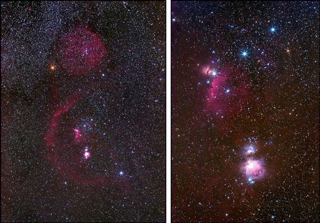 Orion and The Belt and Sword of Orion © Jeff Hapeman