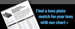 Find a lens plate match for your lens with our chart �