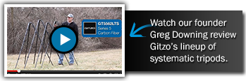 Watch our founder Greg Downing review Gitzo's lineup of systematic tripods