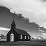 Village church black and white © Nikhil Bahl