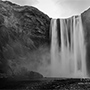 Waterfall in the distance black and white photo © Nikhil Bahl