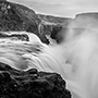 Iceland waterfall mist black and white photography © Nikhil Bahl