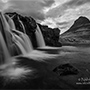 Black and white photography of Iceland waterfalls © Nikhil Bahl